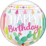 Foliový balónek, 56cm, plastový, Happy Birthday, kaktus, lama - Balonky