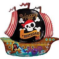 Foliový balónek, 91cm, pirát Happy Birthday - Balonky