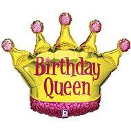 Foil balloon, 91m, birthday queen - Balloons