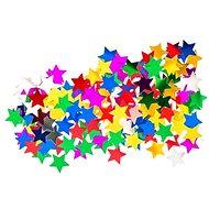 Konfety mini, hvězdy, mix barev - Party doplňky