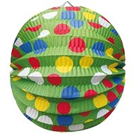 Lantern round, O24cm, party, green