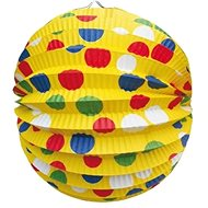 Lantern round, O24cm, party, yellow