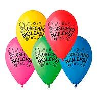 Nafukovací balónky, 26cm, všechno nejlepší, mix barev, 10ks - Balonky