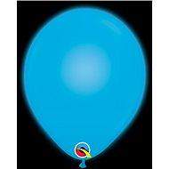 Nafukovací balónky, 28cm, LED světlo, modrá, 5ks - Balonky
