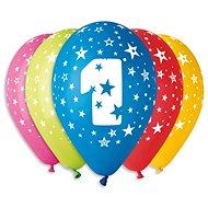 """Nafukovací balónky, 30cm, číslice """"1"""" mix barev, 5ks - Balonky"""
