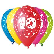 """Nafukovací balónky, 30cm, číslice """"10"""" mix barev, 5ks - Balonky"""