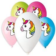 Nafukovací balónky, 30cm, jednorožec, mix barev, 5ks - Balonky