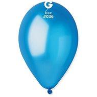 Nafukovací balónky, 30cm, metalická modrá, 10ks - Balonky
