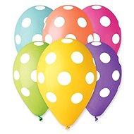 Inflatable balloons, 30cm, polka dot, mix of colours, 5pcs - Balloons