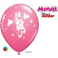 Nafukovací balónky, 30cm, růžová, Myška Minnie, 6ks - Balonky