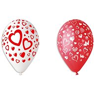 Inflatable balloons, 30cm, heart, mix of colours, 5pcs - Balloons