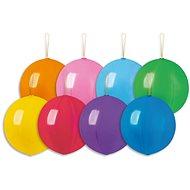 Nafukovací balónky, 45cm, s gumičkou, mix barev, 4ks - Balonky