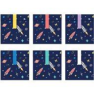 Párty sáčky na sladkosti, 13x14cm, Space, 6ks