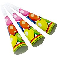 Party tubes, with polka dots and stripes, 6 pcs - Party accessories