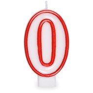 """Svíčka narozeninová, 7,5cm, číslice """"0"""", bílá - Svíčka"""