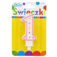 """Svíčka narozeninová, 7,5cm, číslice """"1"""", barevná - Svíčka"""