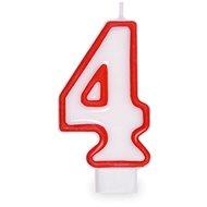 """Svíčka narozeninová, 7,5cm, číslice """"4"""", bílá - Svíčka"""