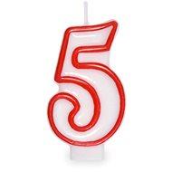 """Svíčka narozeninová, 7,5cm, číslice """"5"""", bílá - Svíčka"""