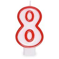 """Svíčka narozeninová, 7,5cm, číslice """"8"""", bílá - Svíčka"""