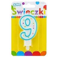 """Svíčka narozeninová, 7,5cm, číslice """"9"""", barevná - Svíčka"""