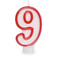 """Svíčka narozeninová, 7,5cm, číslice """"9"""", bílá - Svíčka"""