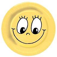 Talíře papírové, O 23cm, Smiley, 10 ks - Jednorázové nádobí