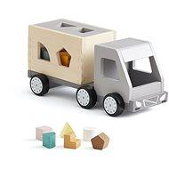 Náklaďák s kostkami dřevěný Aiden - Dřevěná hračka
