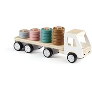 Truck with wooden Aiden rings - Wooden Toy