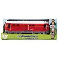 Lokomotiva/Vlak červená - Auto