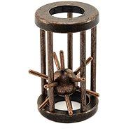 Hlavolam ježek kovový hnědý - Hlavolam