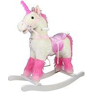 Rocking white plush horse