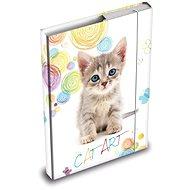 Desky na sešity MFP box A4 Kočka - Školní desky