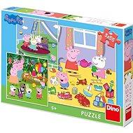 Peppa Pig Na Prázdninách 3X55 Puzzle Nové