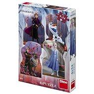 Frozen II 4X54 Puzzle Nové - Puzzle