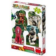 Zafari: Zoomba A Kamarádi 4X54 Puzzle Nové