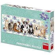Psi a kočky 150 Panoramic Puzzle Nové