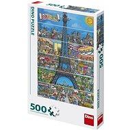 Puzzle Eiffelova Věž Kreslená 500 Puzzle