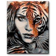 Malování podle čísel - Tygří žena - Malování podle čísel