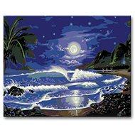 Malování podle čísel - Měsíc nad mořem - Malování podle čísel