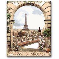 Malování podle čísel - Pohled na Eiffelovku z města  - Malování podle čísel