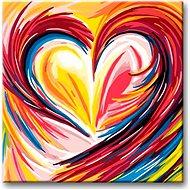 Malování podle čísel - Duhové malované srdce - Malování podle čísel