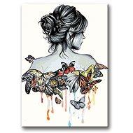 Malování podle čísel - Motýlí žena - Malování podle čísel