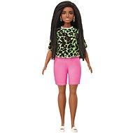 Barbie modelka - tričko s neonovým leopardím vzorem a růžovými šortkami - Panenka