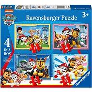 Ravensburger 030651 Tlapková patrola 4 v 1 - Puzzle
