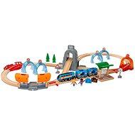 Brio World 33972 SMART TECH SOUND Cestovní set s tunely  - Vláčkodráha