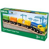 Brio World 33982 Nákladní vlak se třemi vagony  - Vláčkodráha