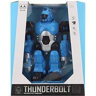 Battery-powered blue robot