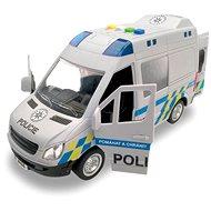MaDe Auto policejní dodávka, na setrvačník s reálným hlasem posádky, 21 cm - Auto