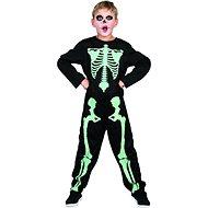 Šaty na karneval - kostra svítící ve tmě, 110 -120 cm - Dětský kostým
