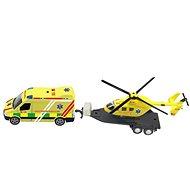 Sada ambulance + vrtulník, se světlem a zvukem - Hračka